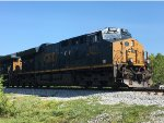 CSX 3271 (ET44AH) eases to a stop at N.Graysville, GA